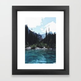 Glacier Creek, Moraine lake Banff Framed Art Print