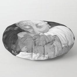 Buddha back and white Floor Pillow