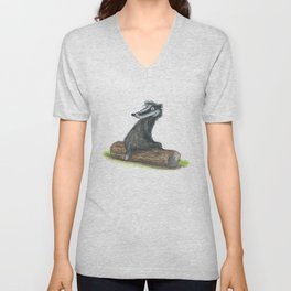 Badgers Date Unisex V-Neck