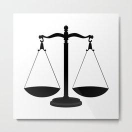 Balance Scales Metal Print
