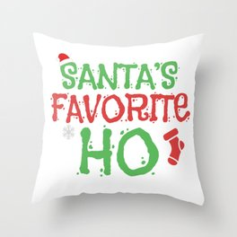 Santas Favorite Ho Ugly Christmas Sweet Gift Throw Pillow
