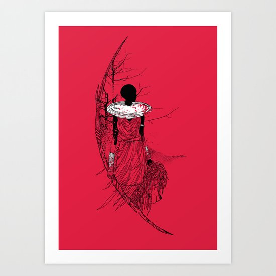 The Lioness Warrior Art Print