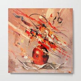 Apple abstraction Metal Print