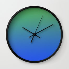 RESTING STATE - Minimal Plain Soft Mood Color Blend Prints Wall Clock