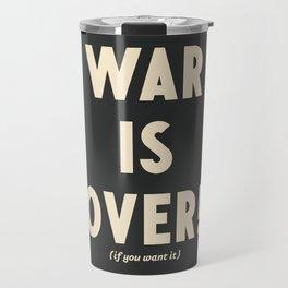 War is over!, if you want it, vintage art, peace, Yoko Ono, Vietnam War, civil rights Travel Mug