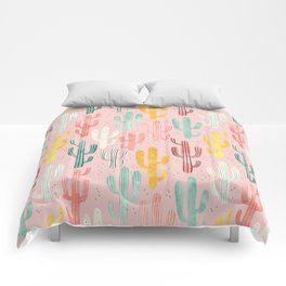 Long Multicolored Cacti Comforters