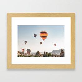 Somewhere Over the Rainbow - Cappadocia Framed Art Print