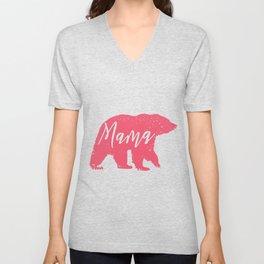mama bear animal silhouette  Unisex V-Neck
