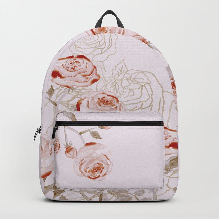 FRENCH PALE ROSES Backpack