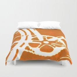 Orange Bike Duvet Cover