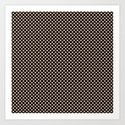 Black and Toasted Almond Polka Dots by saravalor
