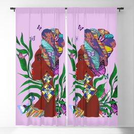 African woman art.Afro art.Home decor Blackout Curtain