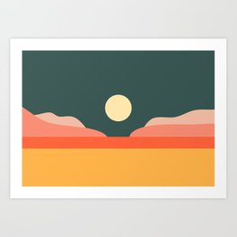 Geometric Landscape 14 Art Print