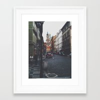 prague Framed Art Prints featuring PRAGUE by REASONandRHYME