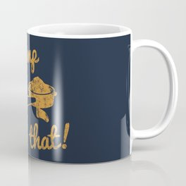 I'd Tamp That! (Espresso Portafilter) // Mustard Yellow Barista Coffee Shop Humor Graphic Design Coffee Mug