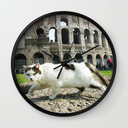 The Cat of the Colosseum Wall Clock