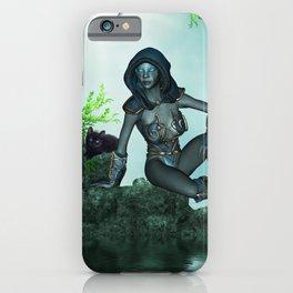 The dark fairy with cute little kitten iPhone Case