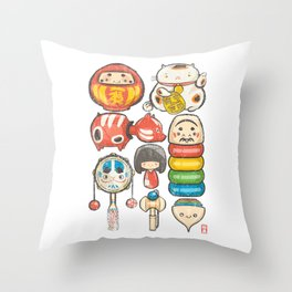 Special Lucky Toy Box Throw Pillow