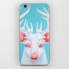 Portrait of a White Stag iPhone Skin