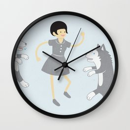 Dances With Wolves Wall Clock