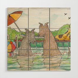 Pool Party Wood Wall Art