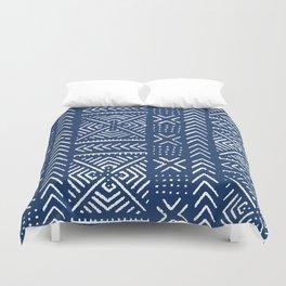 Line Mud Cloth // Dark Blue Duvet Cover