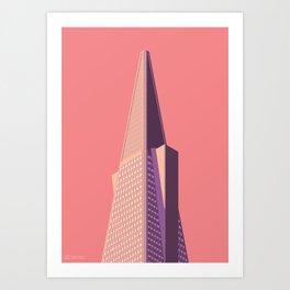 San Francisco Towers - 01 - Transamerica Pyramid (sunset version) Art Print