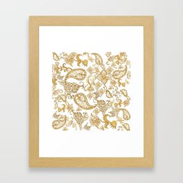 India henna pattern Framed Art Print