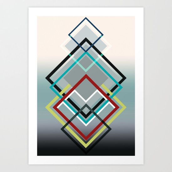 Diamonds Art Print
