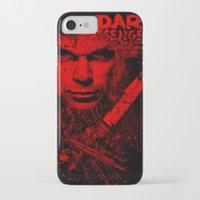 dexter iPhone & iPod Cases featuring Dexter by fajnawizja