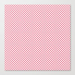 Wild Watermelon Polka Dots Canvas Print