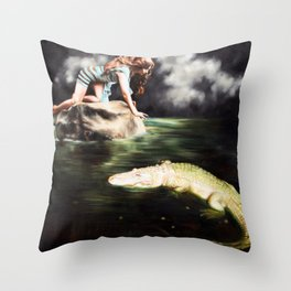 Back With My Darling Throw Pillow