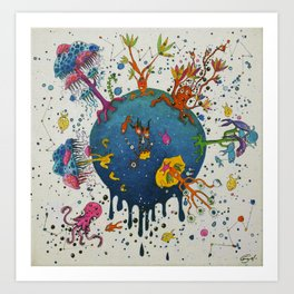 the ocean planet Art Print