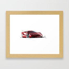 Car Sketch Framed Art Print