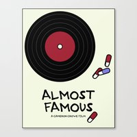 almost famous Canvas Prints featuring Minimalist Almost Famous by alyssaandress