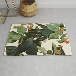 White-crowned Pigeon - John James Audubon's Birds of America Print Rug