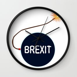 Brexit Black Bomb Wall Clock
