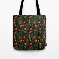 russian Tote Bags featuring Russian flowers by A.Vogler