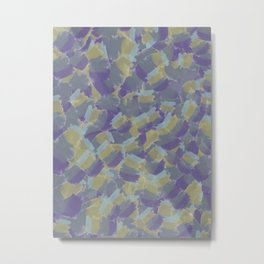 Violet,yellow,gray abstract flowers pattern Metal Print