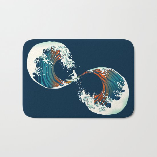 The Wave is forever Bath Mat