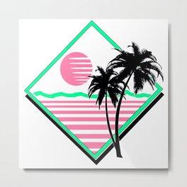 80s Sunset 2 Metal Print