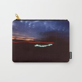 Night Lights Blue Clouds, Tail and Street Light Carry-All Pouch