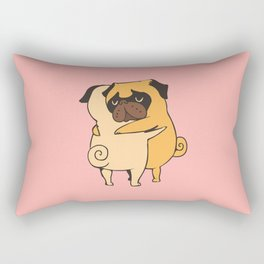 Pug Hugs Rectangular Pillow