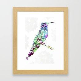 """""""Flowers Sunbird"""" Framed Art Print"""