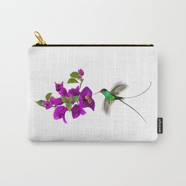 Streamertail Hummingbird and Bougainvillea Carry-All Pouch