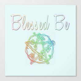 Blessed be with pentacle Canvas Print