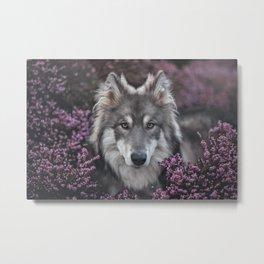 Flower Woof Metal Print