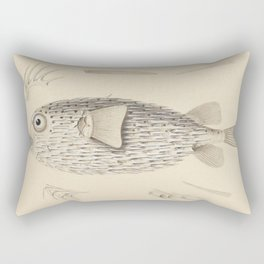Naturalist Pufferfish Rectangular Pillow