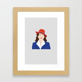 Agent Carter Vector Framed Art Print