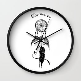 Dream On Dreamcatcher Inking Wall Clock